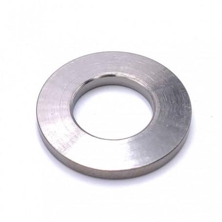 Rondelle Plate Grand Diamètre Exterieur en Titane M6 (Diam Ext 20mm) - DIN 9021 Naturel